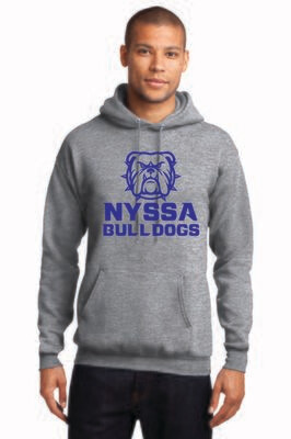 Core Fleece Pullover Hooded Sweatshirt Nyssa Bulldogs