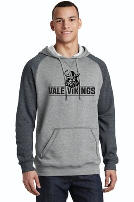 District light weight Fleece Raglan Hoodie Vale Vikings
