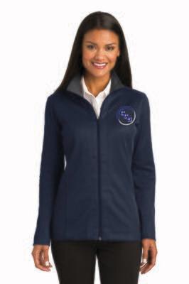 Ladies Vertical Texture Full-Zip Jacket Calvary Christian School