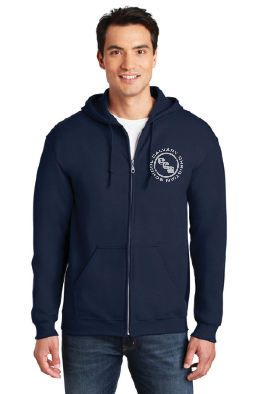 Heavy Blend Full-Zip hooded Sweatshirt Calvary Christian School
