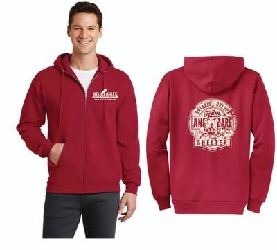 Adult and youth Core fleece Full-Zip hooded Sweatshirt Ani Care