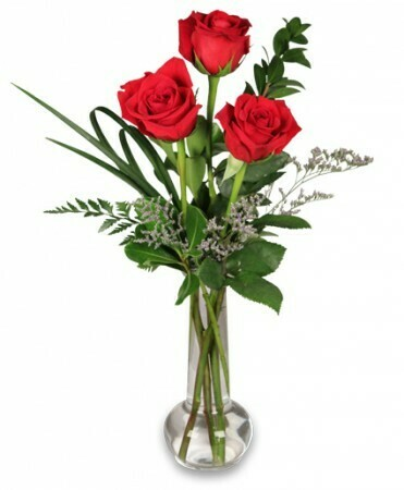 Red Rose Bud Vase