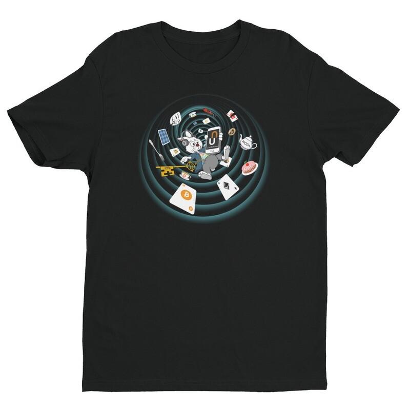 The Crypto Rabbit Hole T-Shirt -- Black