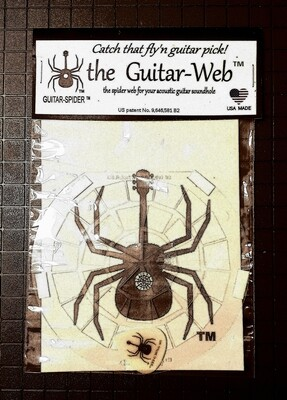 Guitar-Web TM FREE SHIPPING guitar soundhole web - 1 free Glow-in-the-dark guitar pick in each package