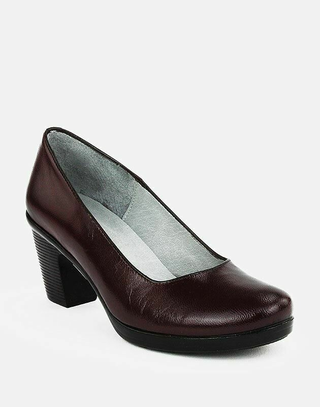 3687 Nature Leather Shoes-Burgundy