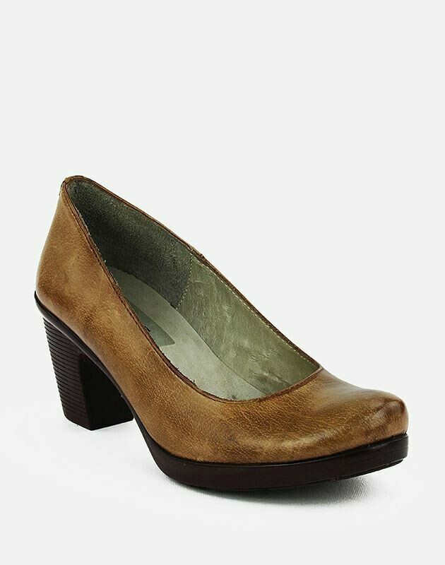 3687 Nature Leather Shoes-Camel