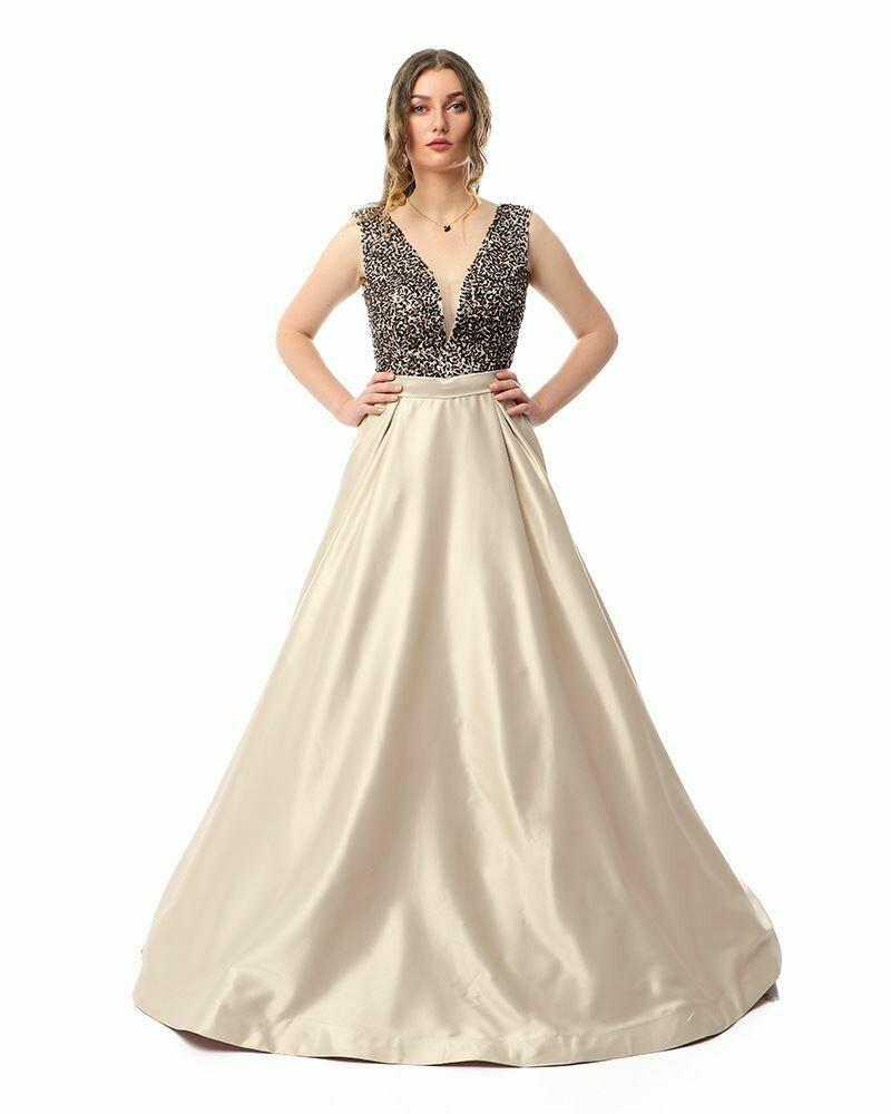 8416 Soiree Dress - Begie