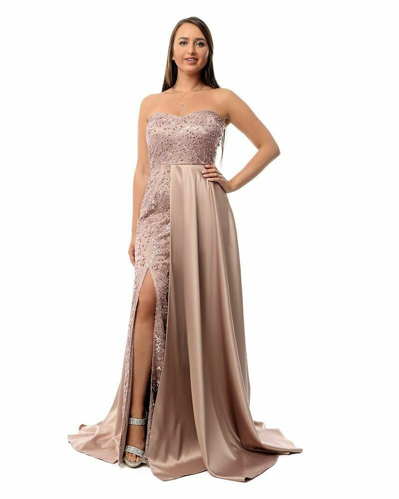 8435Soiree Dress - Cashmer