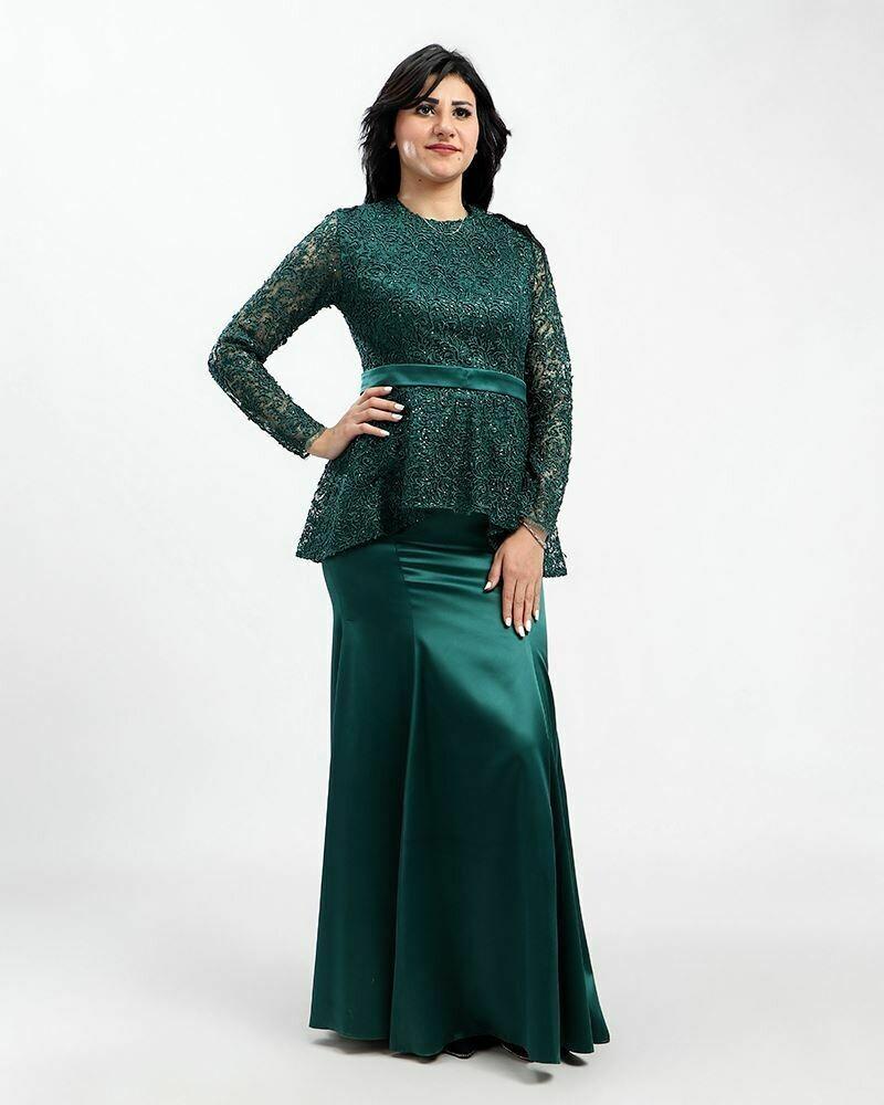 8405  Soiree Dress - Dark Green