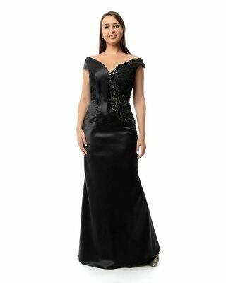 8421  Soiree Dress - Black