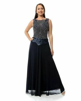 8393 Soiree Dress - Navy