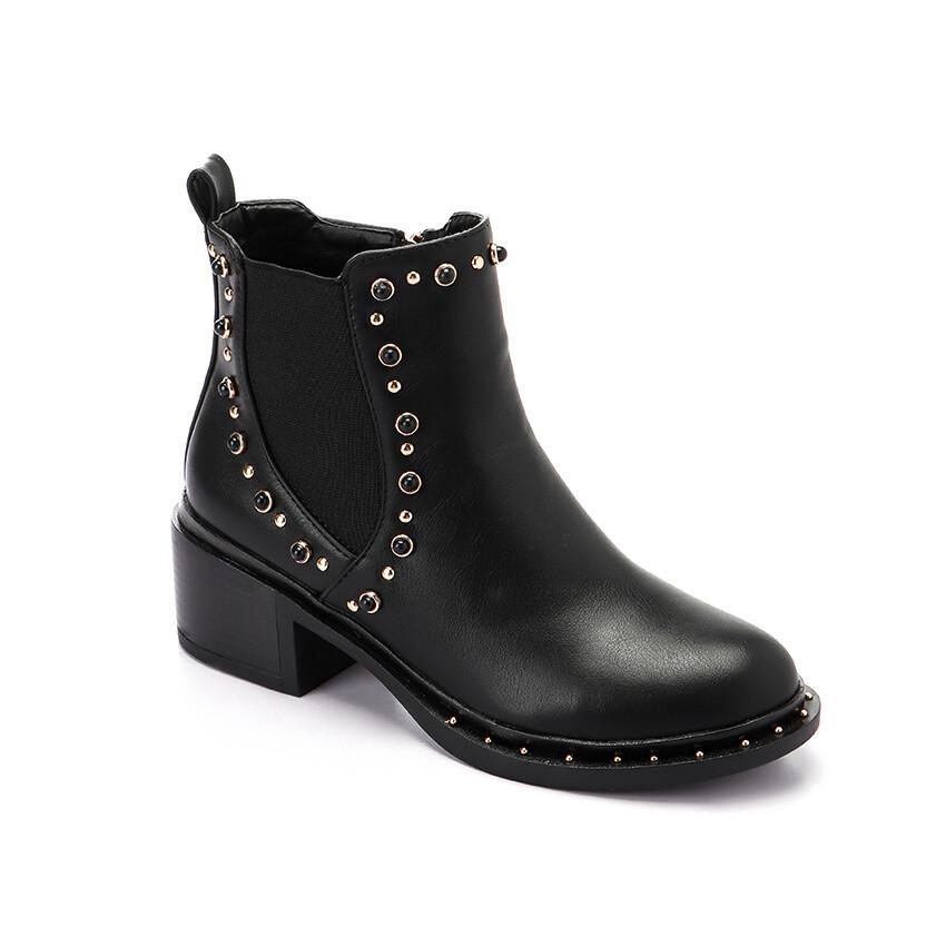 3291 Half Boot -Black