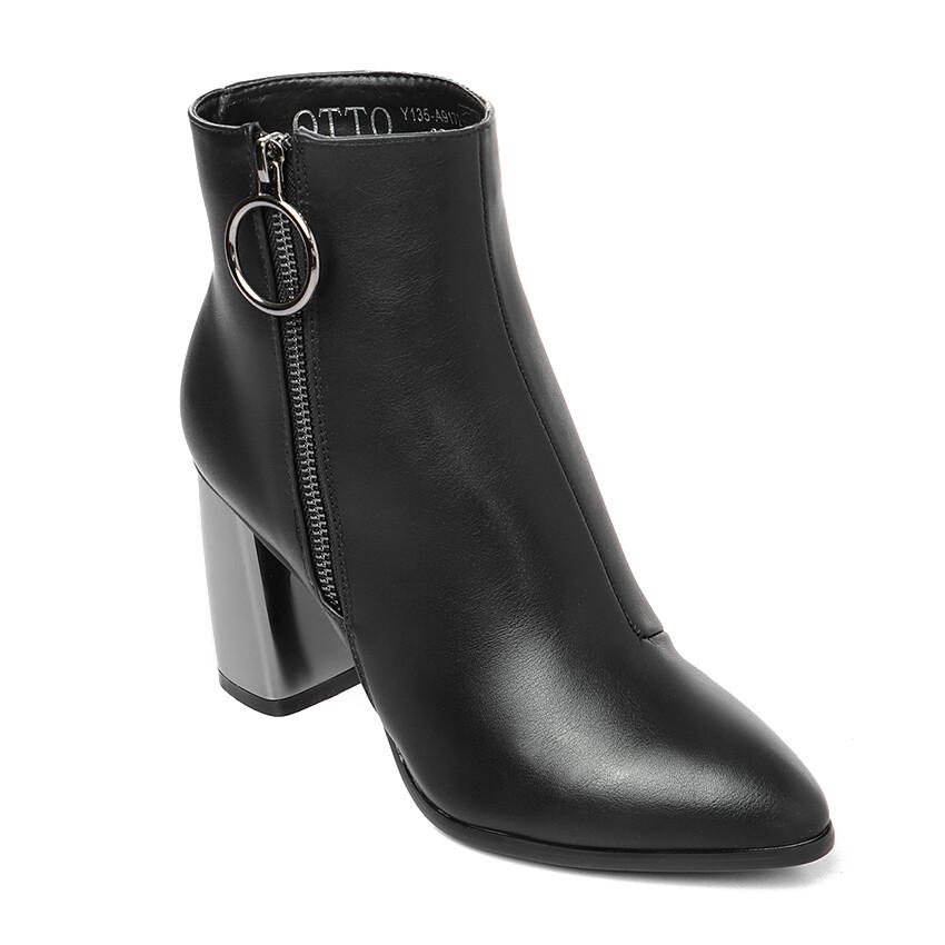 3297 Half Boot -Black