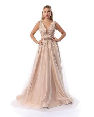 8439 soiree Dress - Cashmer
