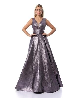 8445 - Soiree Dress - Purpule