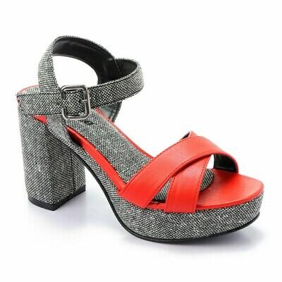 3369 Sandal - Red*Gray