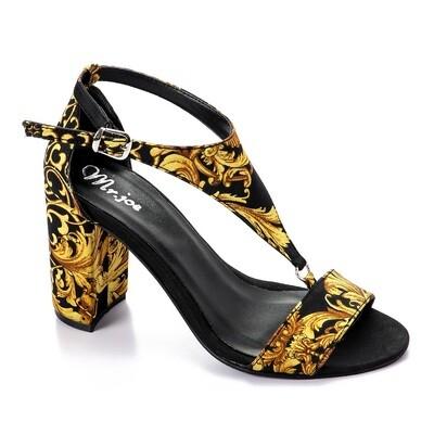 3353 Heels - Black*Gold