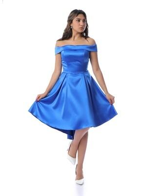 8304Soiree Dress - blue