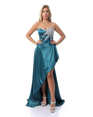 8434 Soiree Dress -terquoise