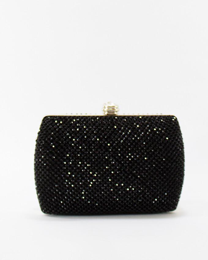 4042 Satin Clutch Bag Black
