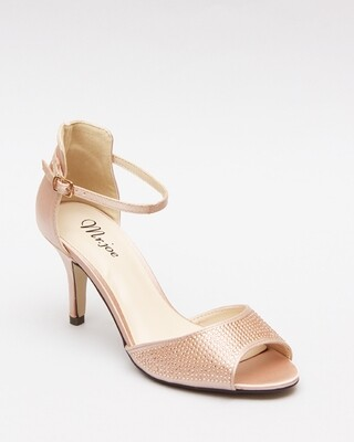 3589 Open Toe Heeled Sandals - Champagne
