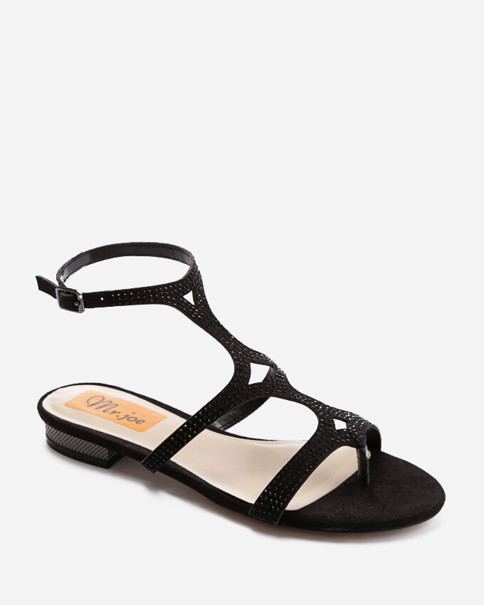 3709 Open Toe Heeled Sandals - Black