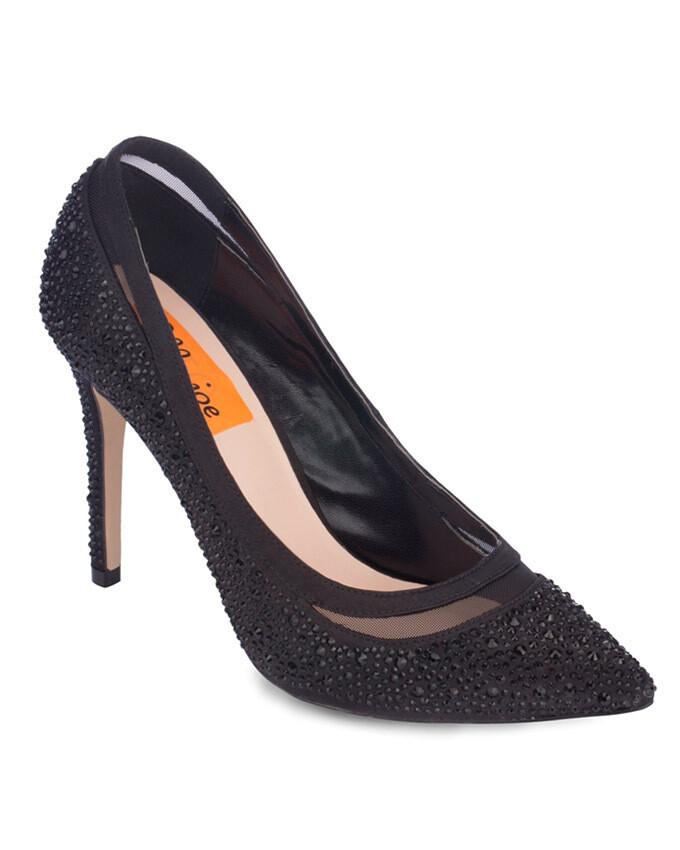 3711 Open Toe Heeled  - Black