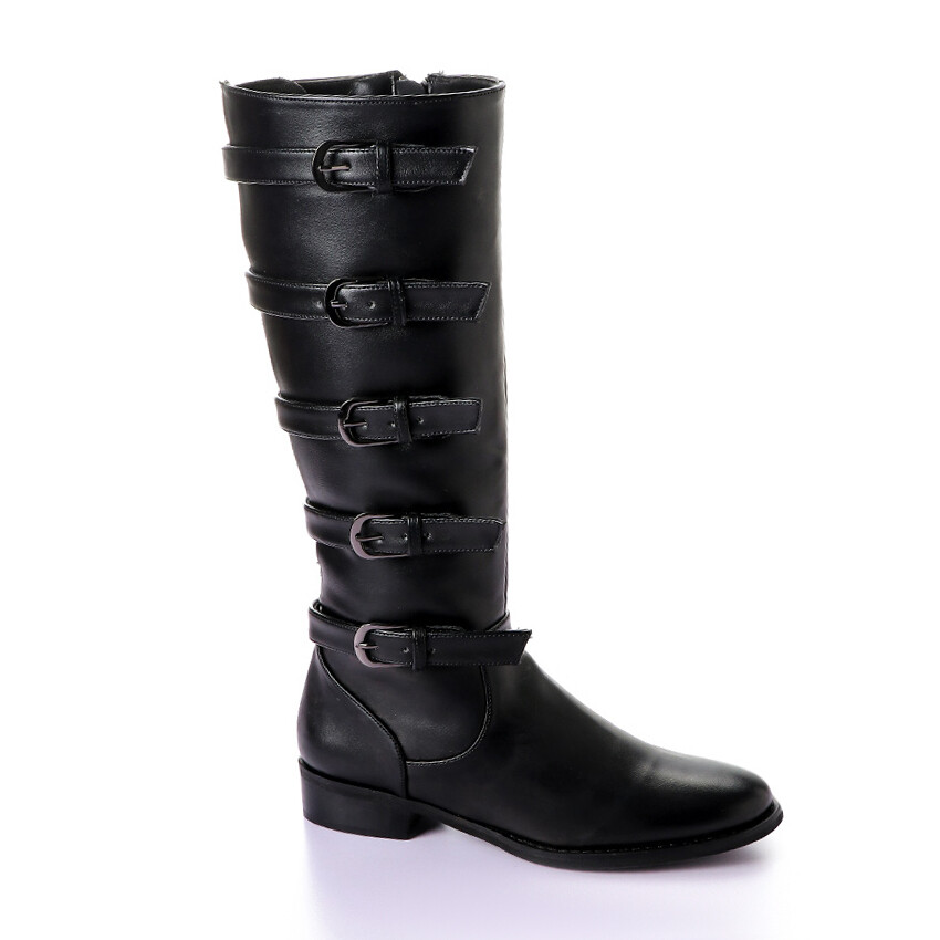 3413 Boot  High Boots- Black