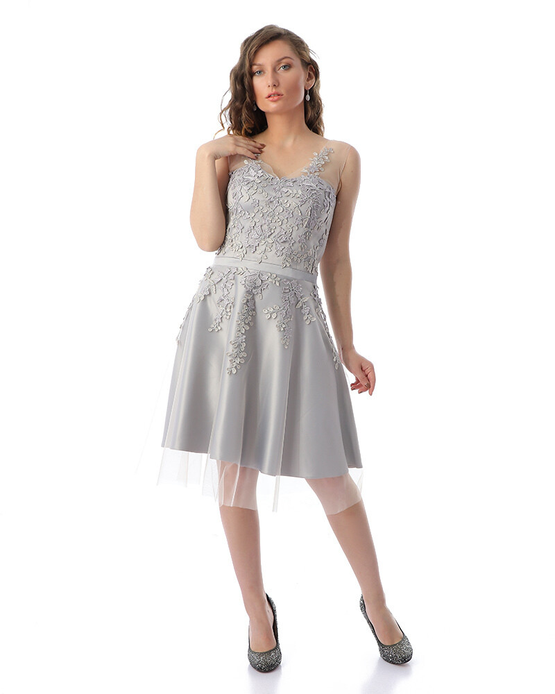 8410 Soiree Dress - gray