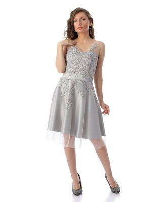 8410 Soiree Dress - gray