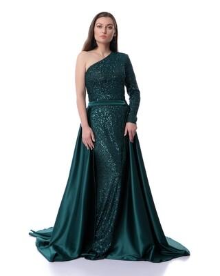 8469 Soiree Dress - Dark Green
