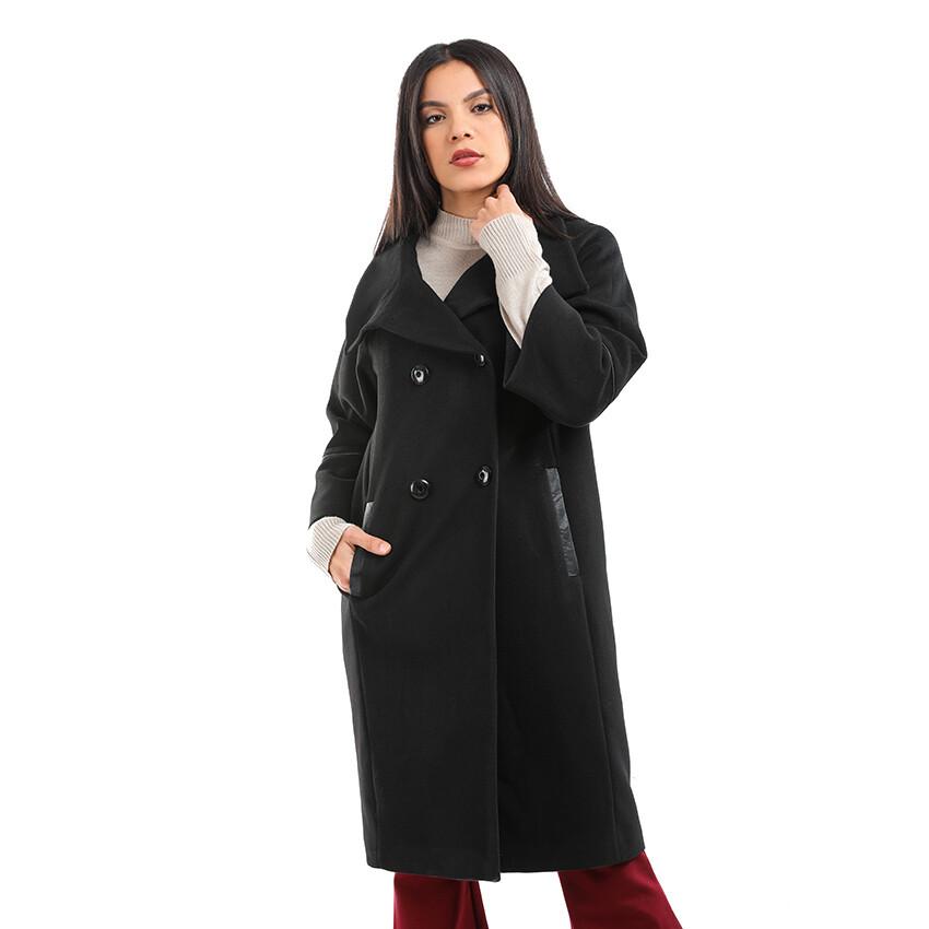 8193 Bi-Tone Coat - Black