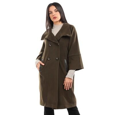 8193 Coat - Dark green