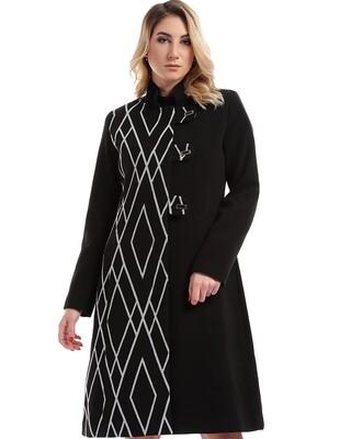 8206 Coat - Black Plain Long