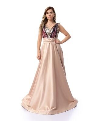 8465 Soiree Dress - Champagn