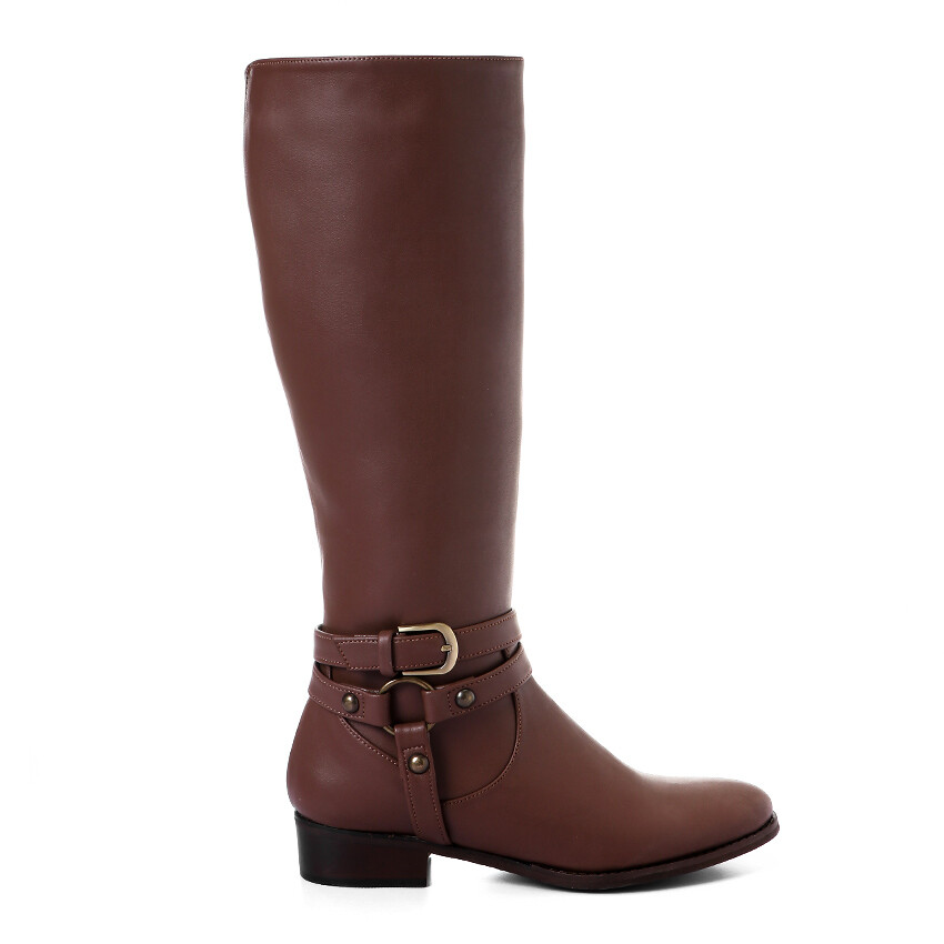 3427 -Leather Boot - Brown