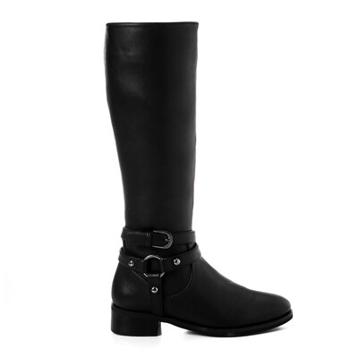 3427 -Leather Boot - Black