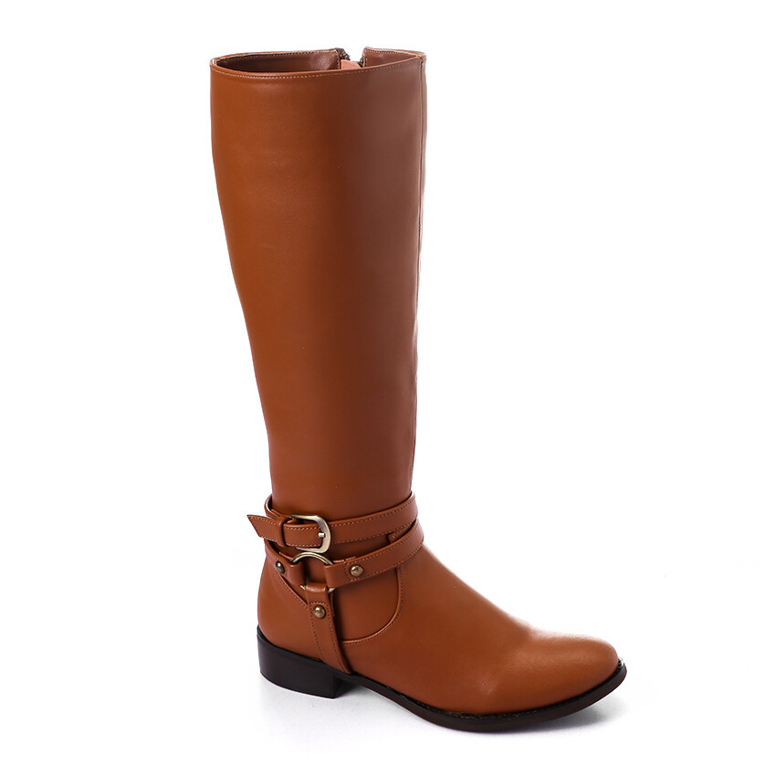 3427 - Leather Boot - Camel