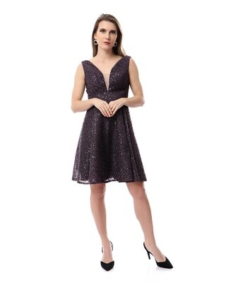 8484 Soiree Dress - Dark Purple