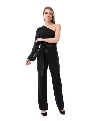 8497 Soiree Jump Suit-  Black