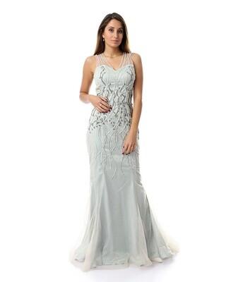 8489 Soiree Dress - BaBy Blue
