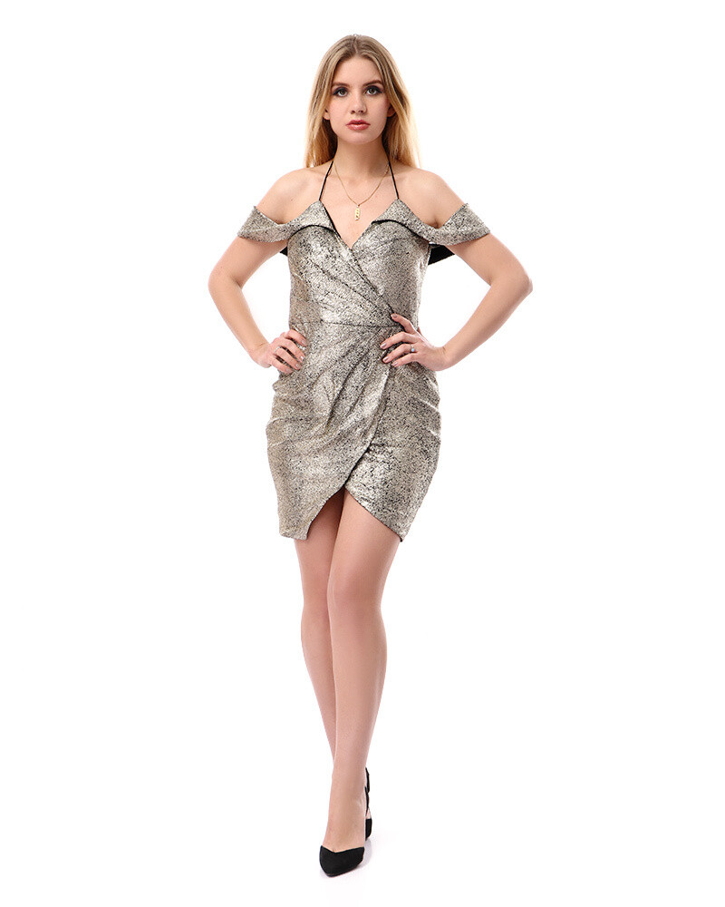 8503 Soiree Dress - Gold