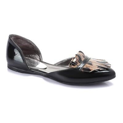 3262 Ballet Flat Shoes - Black*Tiger