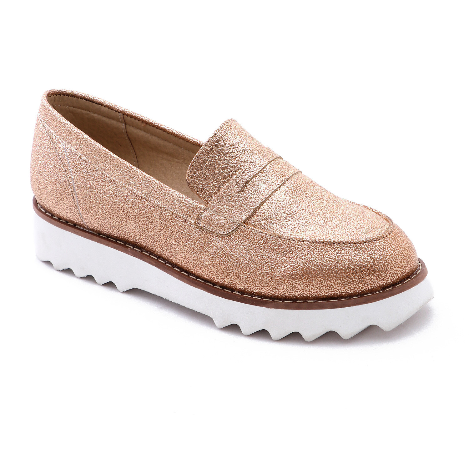 3390 Casual Sneakers - Copper Leather
