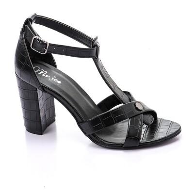 3440 Sandal - Black crocodie