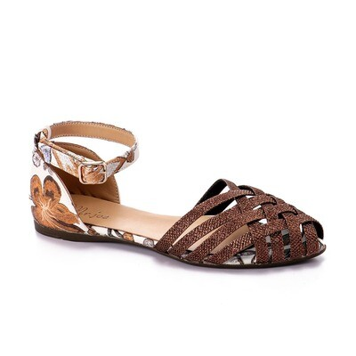 3469 Ballet Flat Shoes -Gold