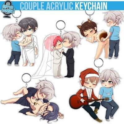 Couple acrylic keychain
