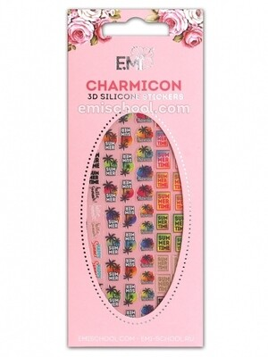 Charmicon 3D Silicone Stickers #80 Summer Time
