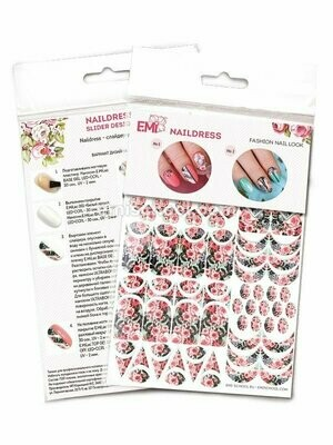 Naildress Slider Design English Roses