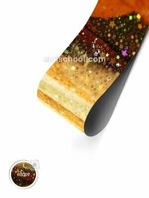 Foil holographic gold Stars, 1.5 m